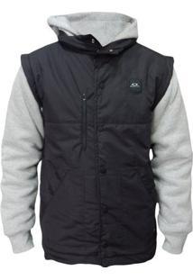 Jaqueta Moletom Oakley Sport Puff Fleece Masculino - Masculino-Preto