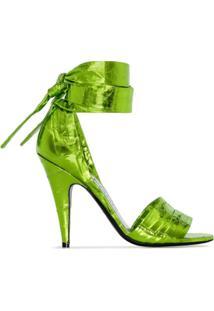 Tom Ford Sandália De Cetim Com Salto 105Mm - Verde