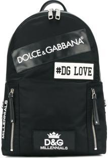 Dolce & Gabbana Mochila Com Patches - Preto