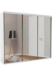 Guarda-Roupa Casal Com Espelho Luminum Light 3 Pt 3 Gv Branco