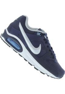 Tênis Nike Air Max Command Leather - Masculino - Azul Escuro/Prata