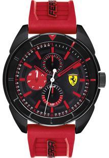Relógio Scuderia Ferrari Masculino Borracha Vermelha - 830576