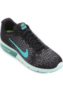 Tênis Nike Air Max Sequent 2 Feminino - Feminino-Preto+Verde Água