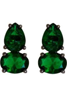 Brinco Negro Ania Store Bodiam Verde - Tricae