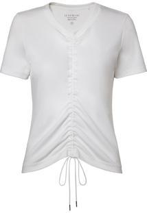 Camiseta Le Lis Blanc Wanda Malha Algodão Off White Feminina (Off White, M)