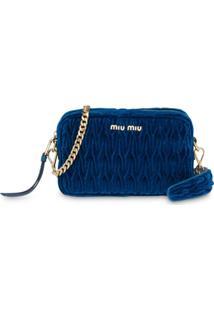 Miu Miu Bolsa Tiracolo Matelass㪠- Azul