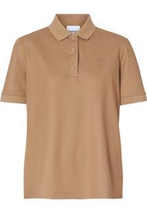 Burberry Camisa Polo Monogramada - Neutro