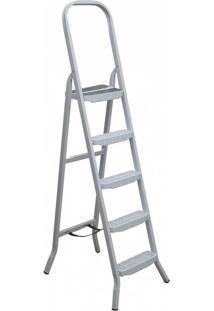 Escada De Ferro Maestro Premium, 5 Degraus, Branca - 04805