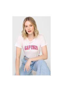 Blusa Gap Estampada Rosa
