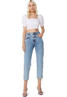 Calça Jeans Slim Com Recortes