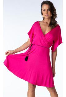 Vestido Transpassado Pink