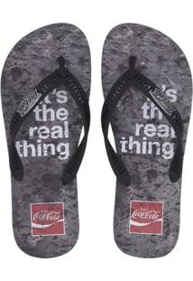Chinelo Coca Cola Real Thing Masculino - Masculino