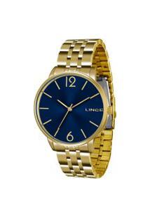 Relógio Analógico Lince Feminino - Lrg605L D2Kx Dourado