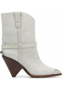 Isabel Marant Ankle Boot Lamsy - Cinza