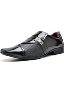 Sapato Social Verniz Zaffiori Masculino - Masculino-Preto