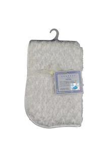 Cobertor Para Bebê Peludinho De Florzinha 1,50M X 1,00M Com Cabide Petit Baby - Branco
