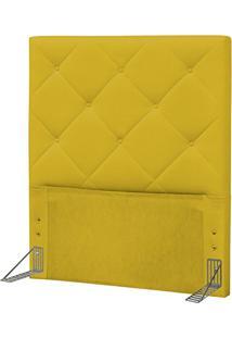 Cabeceira Solteiro 90 Cm Oásis Corino Amarelo - D'Monegatto