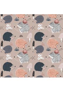 Papel De Parede Infantil Porco Espinho Escandinavo 57X270Cm - Tricae