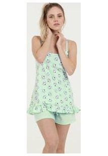 Pijama Feminino Estampa Marie Alças Finas Disney