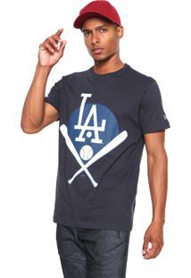 Camiseta New Era Los Angeles Dogers Azul-Marinho