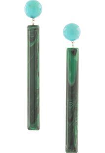 Rachel Comey Par De Brincos Geométrico 'Matchstick' - Verde