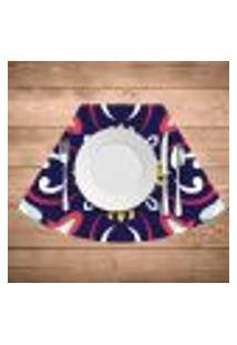Jogo Americano Para Mesa Redonda Wevans Mandala Roxa Kit Com 6 Pçs