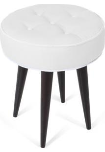 Puff Decorativo Para Sala, Quarto Retro Atz 138 Branco