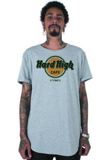 Camiseta Longline Stoned Hard High Café Masculina - Masculino