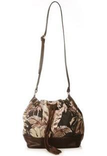 Bolsa Bucket Blue Bags Impermeável Estampa Exclusiva - Feminino-Marrom