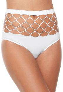 Calcinha Trifil Hot Pant Arrastão Branca