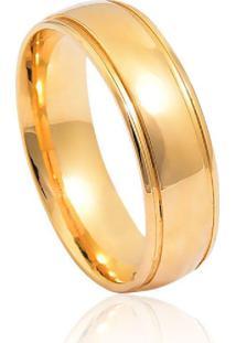 Aliança De Casamento Em Ouro 18K 6,0Mm Anatômica