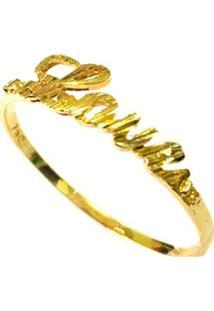 Anel Prata Mil Love De Ouro Ouro - Kanui
