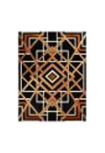 Tapete Marbella Reims Retangular (100X150Cm) Caramelo E Preto