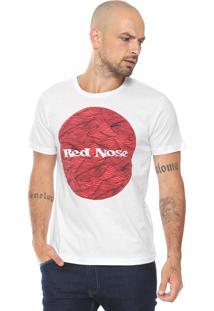 Camiseta Red Nose Estampada Branca