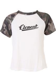 Blusa Element Rose Camo Girl Off-White/Verde - Kanui