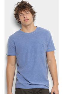 Camiseta Reserva Flamê Estonada Masculina - Masculino-Azul