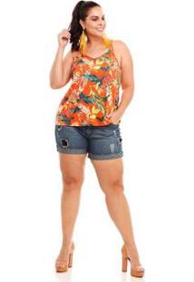62ed85ec81 Regata Linho Plus Size feminina