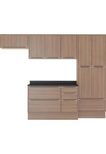 Cozinha Compacta 7 Peças 11 Portas Calábria Nogueira Multimóveis