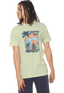 Camiseta Volcom Long Fit Tomb Verde