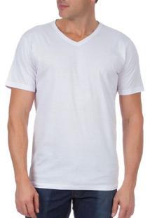 Camiseta Masculina Branca Lisa - M