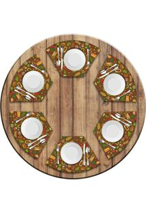 Jogo Americano Love Decor Para Mesa Redonda Wevans Mexican Cuisine Kit Com 6 Pçs