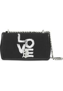 Burberry Bolsa Lola Pequena Com Estampa Love - Preto