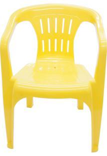 Cadeira De Jardim Atalaia Amarela Com Braços 92210000 Tramontina