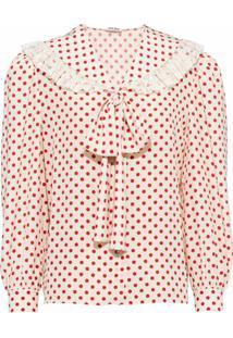 Miu Miu Blusa Com Poás E Aplicação De Laço - Amarelo