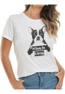 Camiseta Boring Buddies Feminina - Feminino-Branco