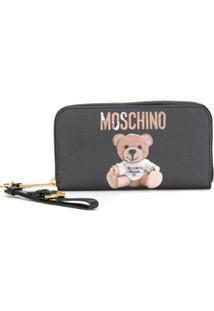 Moschino Carteira 'Teddy Bear' De Couro - Preto