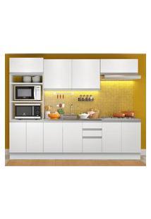 Cozinha Completa Madesa Viena 10 Portas 3 Gavetas (Sem Tampo E Pia) Branco
