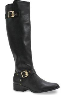 Bota Feminina Via Marte Over Knee - Feminino-Preto