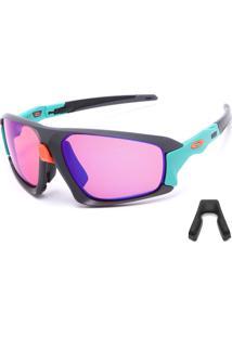 Óculos De Sol Oakley Field Jacket Cinza/Verde