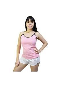 Pijama Kj Conjunto Regata E Short Rosa/Branco